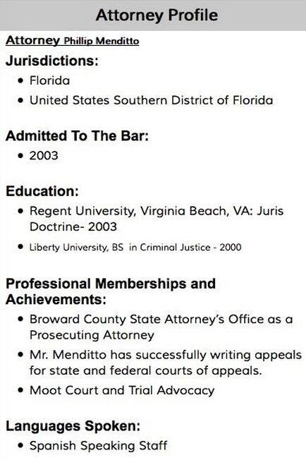 Phillip Menditto Broward County Criminal Defense Attorney ...