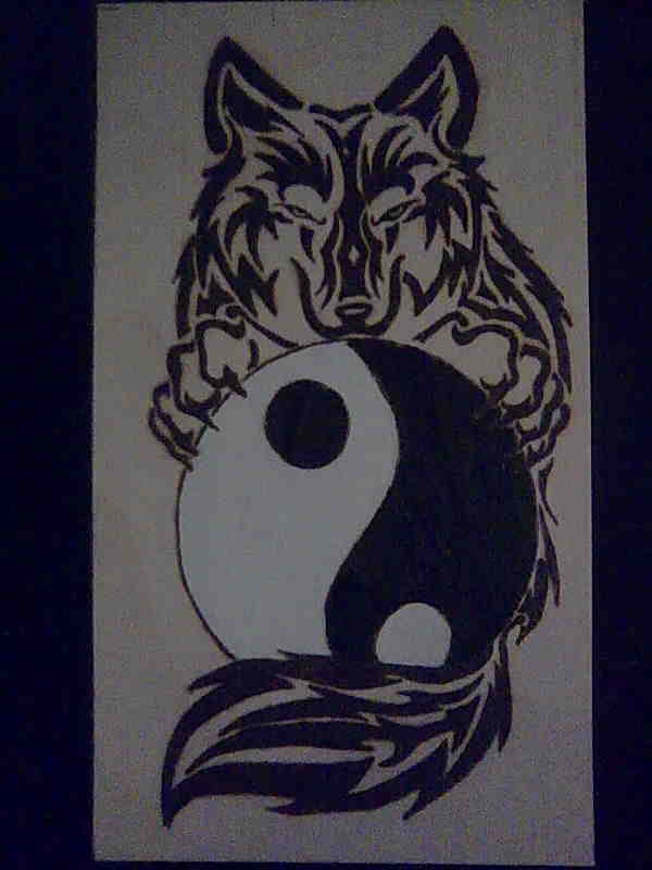 Ying Yang Wolf Tattoo Related Keywords Suggestions Ying Yang