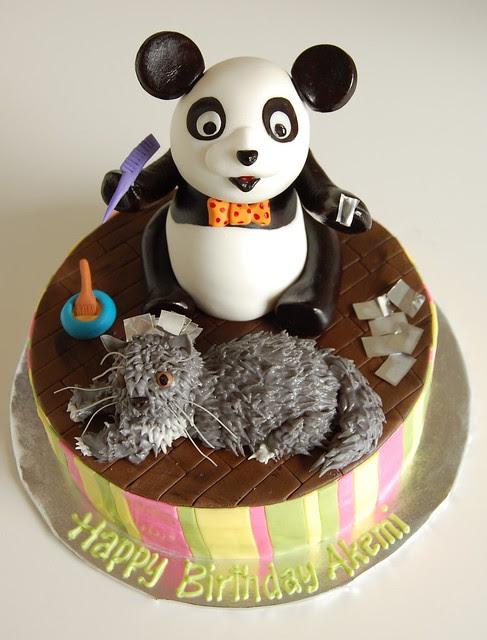 Akemi's Birthday Cake - Panda giving Simba highlights