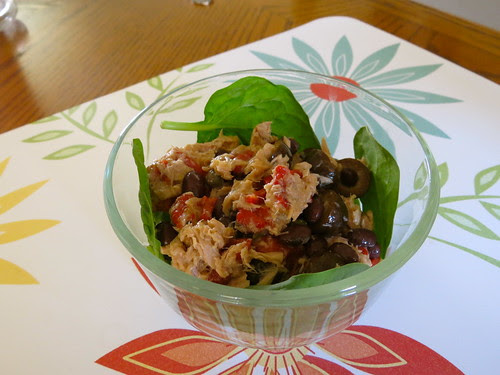 Tuna, Black Bean, and Red Pepper Salad