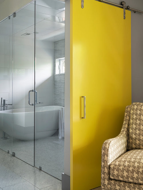 Yellow Barn Door Home Design Ideas, Pictures, Remodel and ...