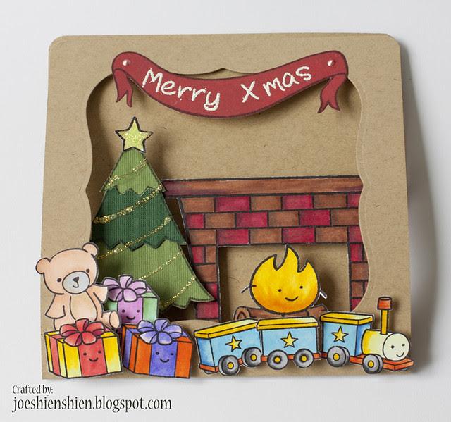 Christmas - window & pop up card