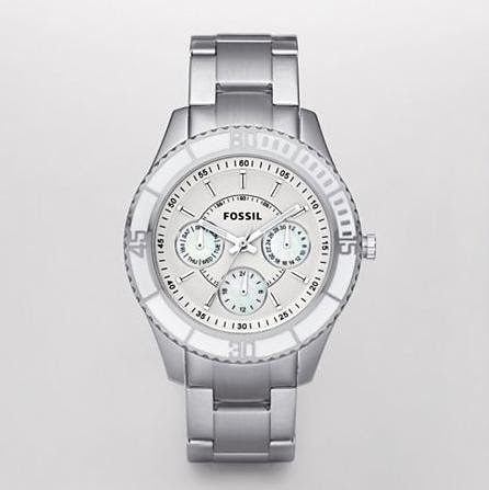 Fossil's Stella Multifunction White Dial Watch
