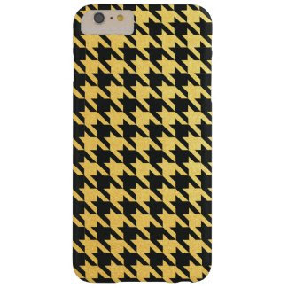 Gold and Black Houndstooth Red