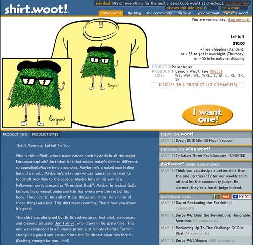 Monsieur lefluff at shirt.woot!