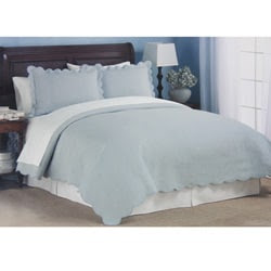 Coventry Pale Blue Matelasse Quilt Set | Overstock™ Shopping ...