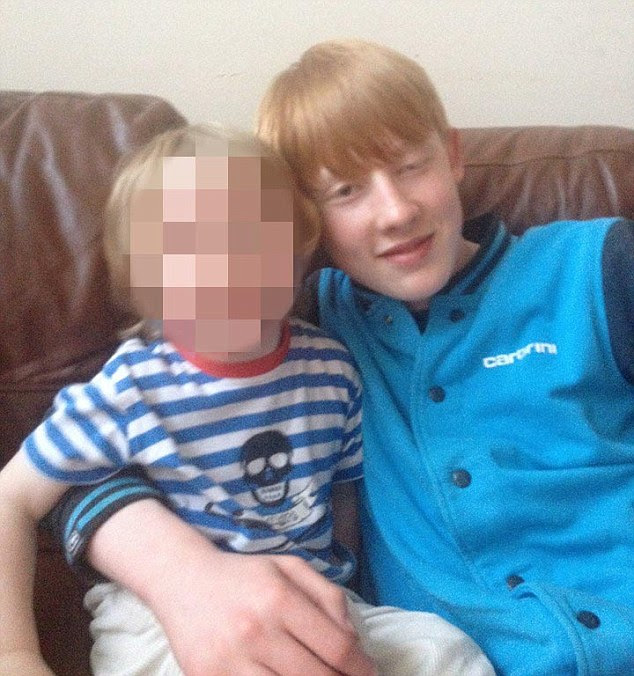 Bailey Gwynne, pictured right, was stabbed at lunchtime today at his school in Aberdeen