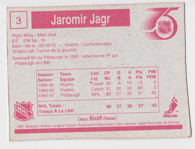 Kraft Dinner - Jaromir Jagr - Back