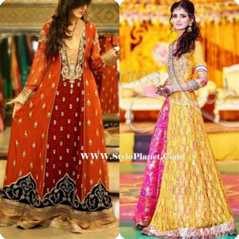 Mayoun/Mehndi Latest Dresses for Bridals 2017   Stylo Planet