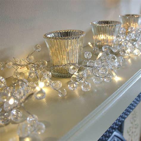 Clear Crystal LED Light Garland in 2019   gems   Light