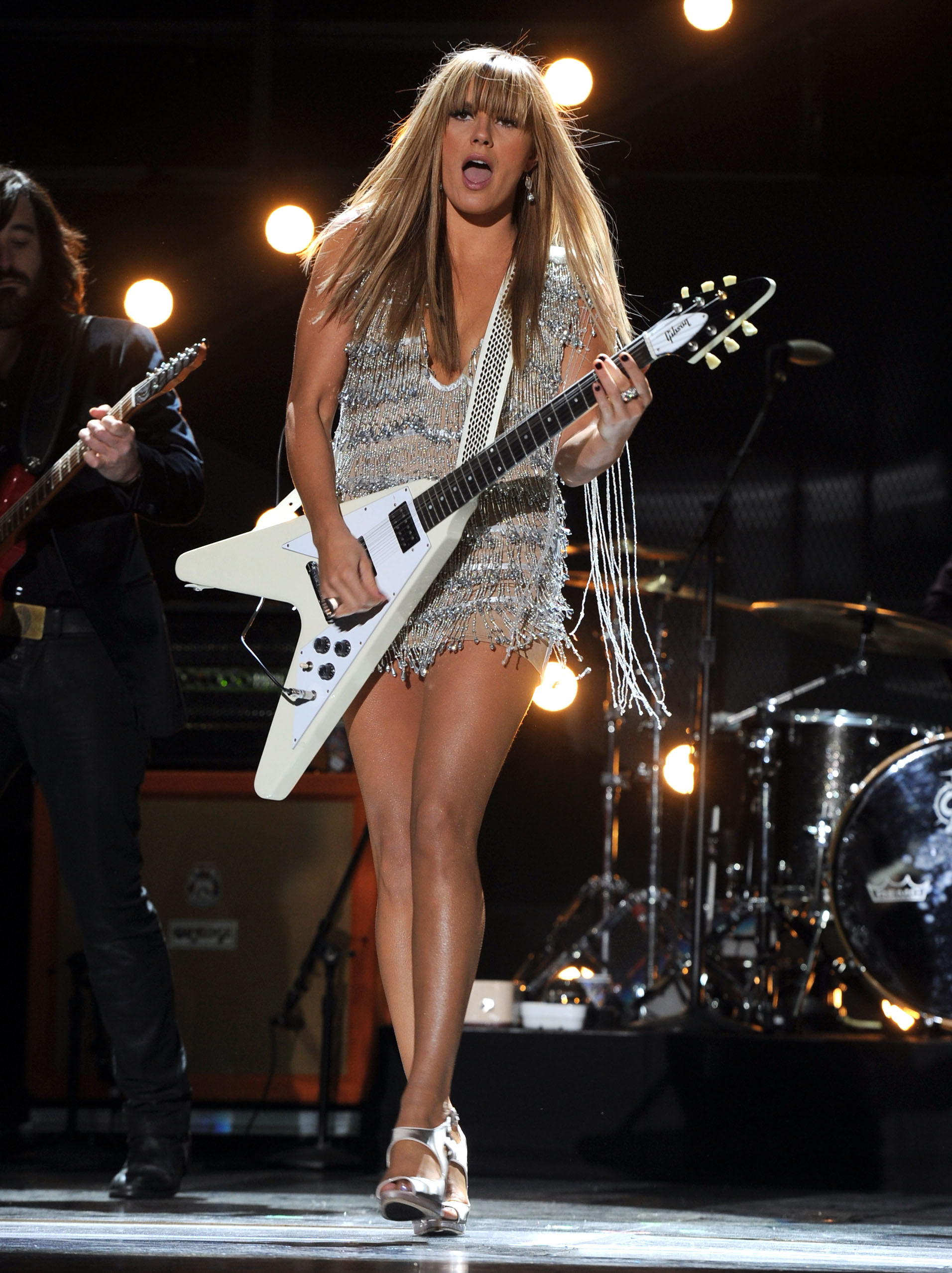 grace potter dress on stage silver