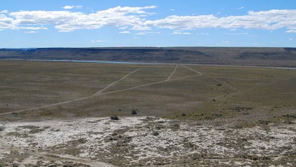 El lugar donde se construira la pared de la represa Jorge Cepernic. Foto Opi SantaCruz.