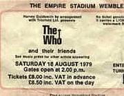 Un biglietto del tour del'79
