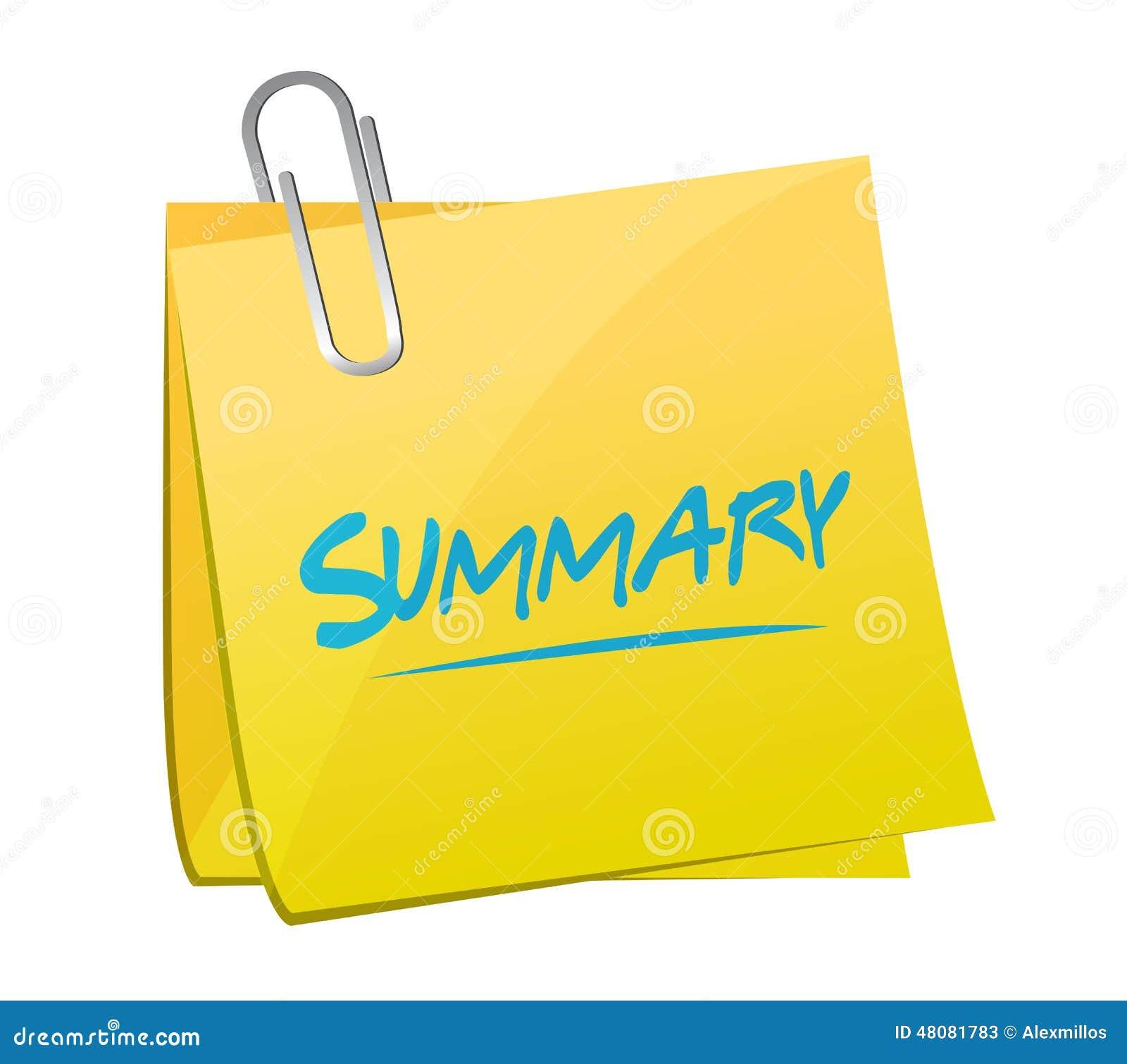 summary memo post illustration design over white background 48081783