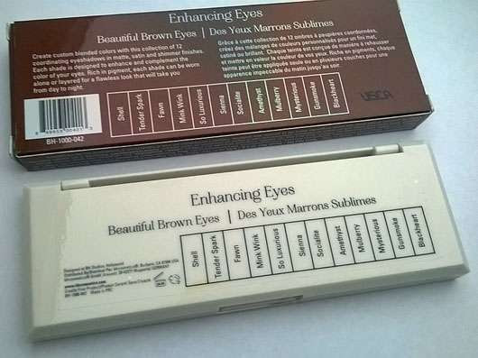 bhcosmetics Enhancing Eyes 12 Color Eyeshadow Palette, Farbe: Beautiful Brown Eyes