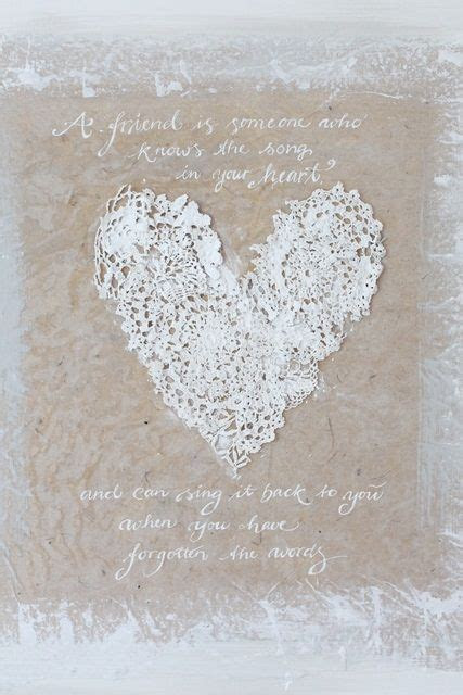 ideas  lace heart  pinterest hanging
