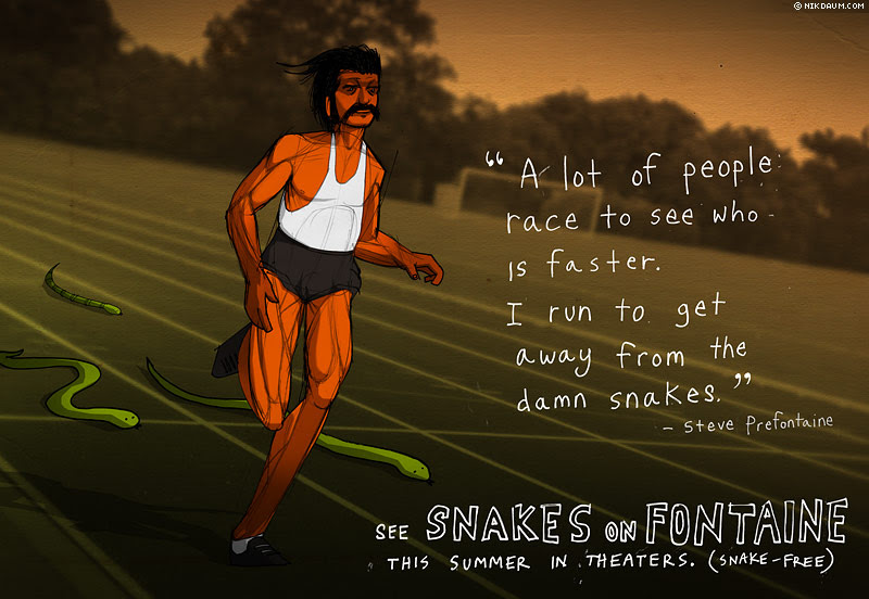 A Serious Drawing Of Steve Prefontaine Nikdaumcom News