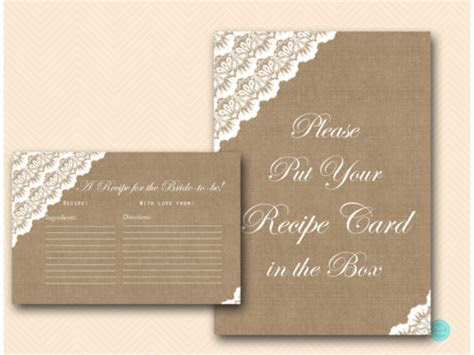 Burlap and Lace Mimosa Sign & Recipe Sign   Magical Printable