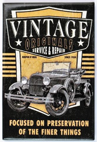 Vintage Originals Service and Repair FRIDGE MAGNET Hot Rod ...
