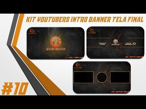 Kit Youtuber #10 Intro Banner Tela Final Para Youtubers