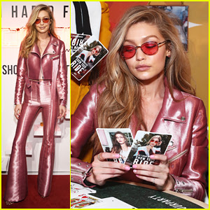 Gigi Hadid Is Decked Out In Pink For Vogue Eyewear Launch!