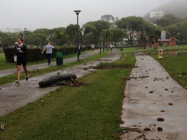 Parque Barigui é utilizado para caminhadas e corridas pelos curitibanos (Foto: Vanessa Rumor/RPC)