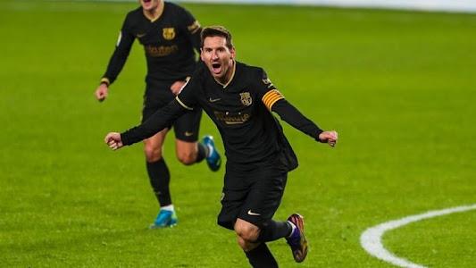 Hasil Babak I - Gol Kontroversial dan Aksi Brilian Messi Bikin Barcelona Unggul atas Granada