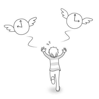イラスト英語time Flies時間が経つのは早い イラストで