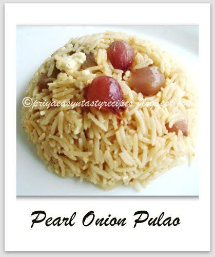 Pearl Onion Pulao