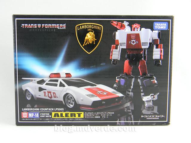 Transformers Red Alert - Masterpiece - caja