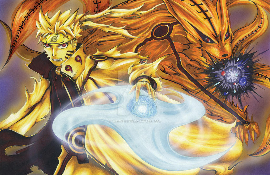 Naruto Bijuu Mode By Greymaulkin On Deviantart
