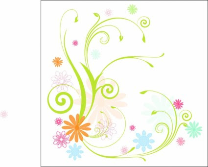 Flores Y Enredaderas Scrolly Flor De Vector Vector Libre Descarga