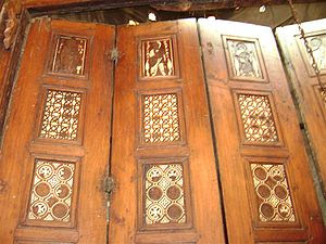 An image of the Door of Prophecies which is a ...