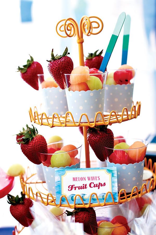 Vintage Beach Theme Baby Shower Fresh Fruits Baby Shower Ideas