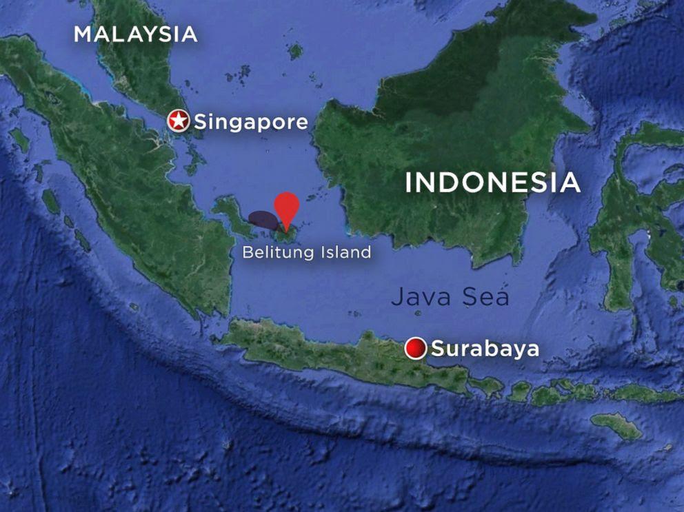 AirAsia Airbus A320-200 Belitung Island Map