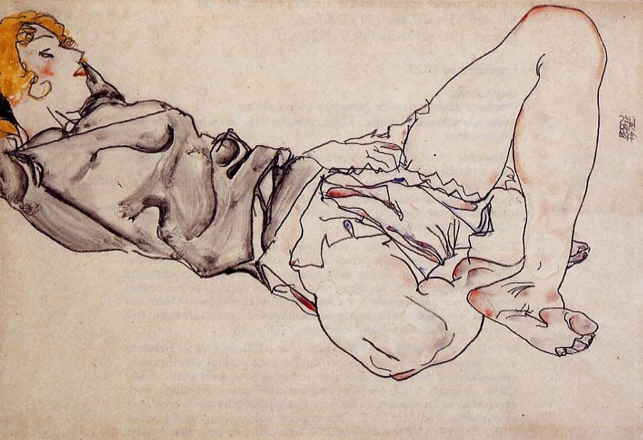 Reclining Woman with Blonde Hair, 1912