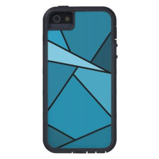 Abstract Teal Polygons iPhone SE/5/5S Case