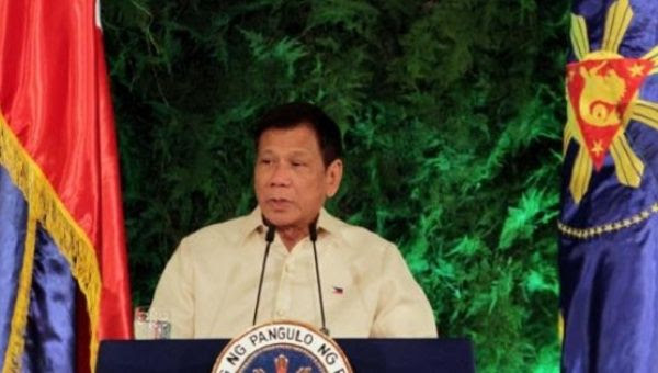 President Rodrigo Duterte delivers his inaugural speech as the President of the Philippines at the Malacanang Palace in Manila, Philippines June 30, 2016.
