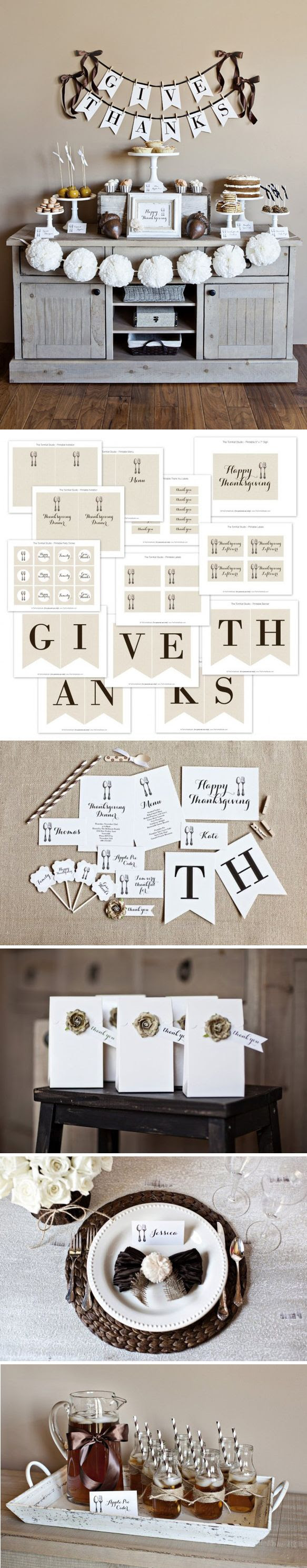 GiveThanks Collection 2012 - free printables from TheTomkat Studio http://www.thetomkatstudio.com/thanksgivingprintables/