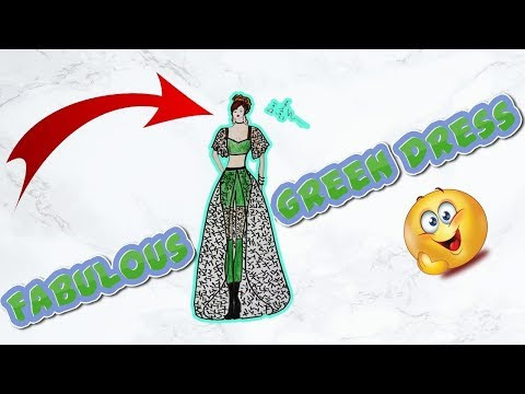 How to Draw a Fabulous Green Dress