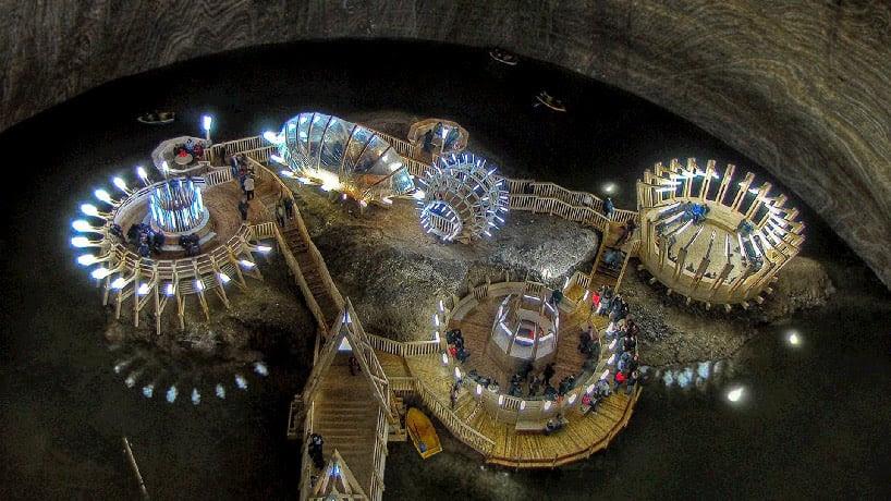 salina turda salt mines turned subterranean history museum