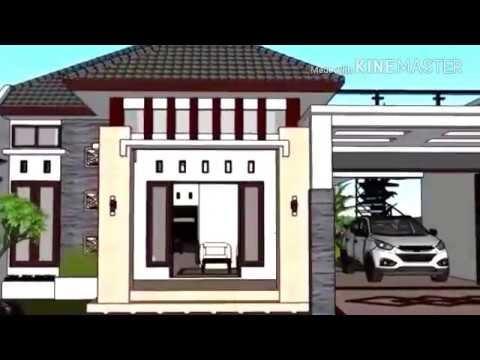 beautifull desain rumah minimalis murah ukuran 8 5x19m 1