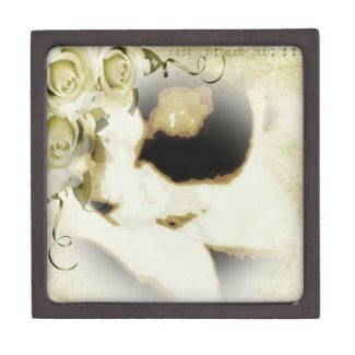 Snowshoe golden roses kitty premium keepsake boxes