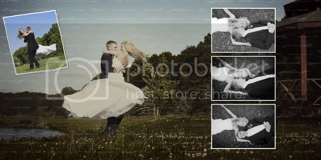 Bride and Groom Wedding Album Layout