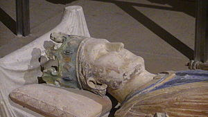 English: Effigy of Henry II of England in the ...