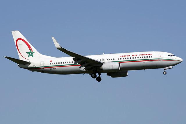 Royal Air Maroc Boeing 737-800 at Gatwick