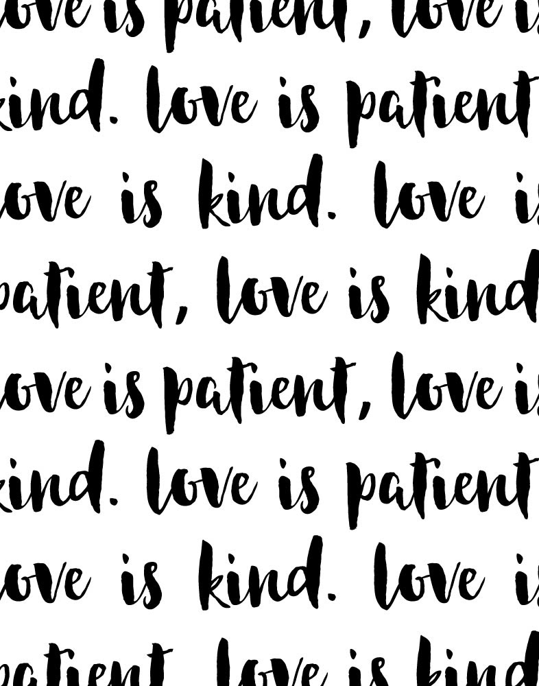 Love Is Patient Love Is Kind Seeds Of Faith
