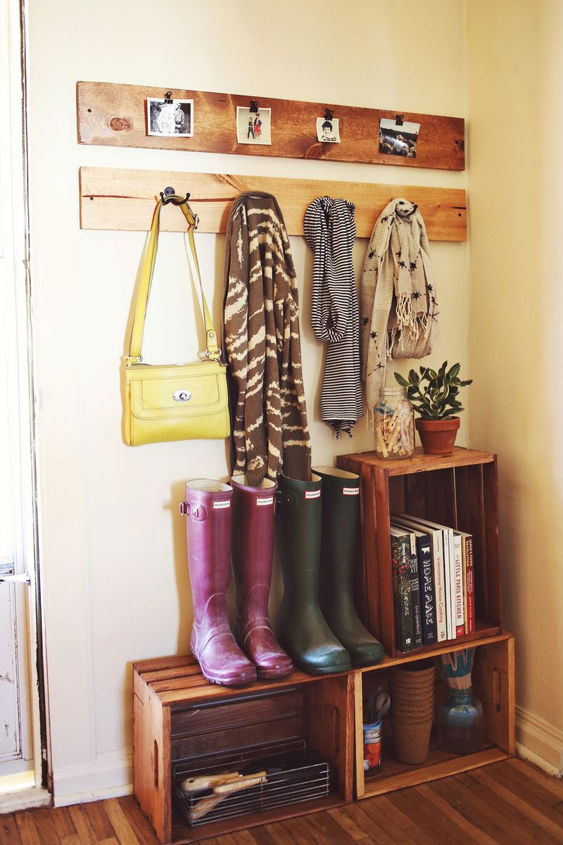 Elsie's Mudroom Organization - A Beautiful Mess