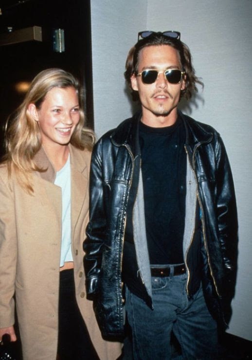 LE FASHION BLOG JOHNNY DEPP KATE MOSS JOHNNY AND KATE INSPIRATION LEATHER JACKET SUNGLASSES CAMEL COAT WHITE SHIRT 90S MINIMAL DENIM 7