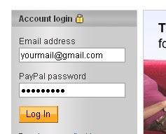 First,Log in to your Paypal accoun - Cara Pasang Paypal Donasi Button DI Blogger